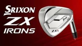 SRIXON ZX5 Diamana ZX Graphite Shafts R FLEX LEFT HAND Irons