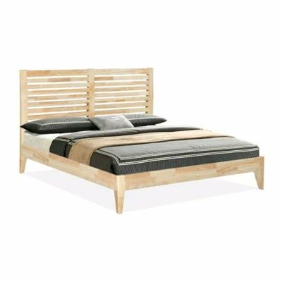 Designer Full Solid Queen Wooden Bed Frames 5' - Natural