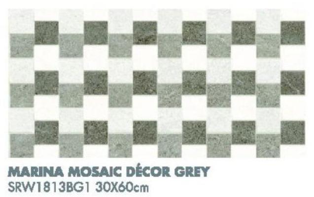 Marina Mosaic Decor Grey SRW1813BG1