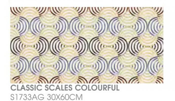 Bathroom CLASSIC - Classic Scales Colourful S1733AG
