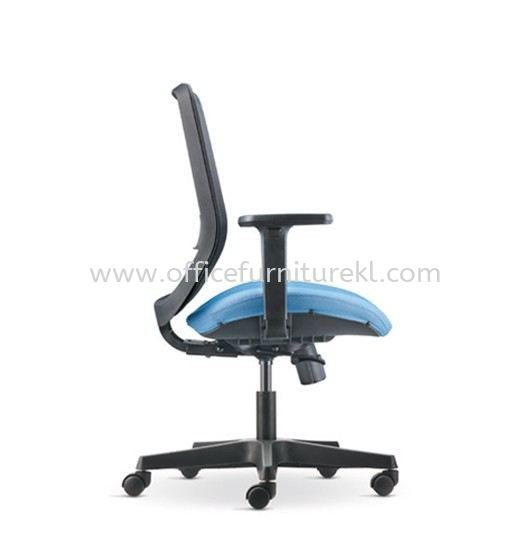 ALAMO LOW BACK ERGONOMIC MESH CHAIR ADJUSTABLE ARMREST C/W POLYPROPYLENE BASE AM8712N-32D91