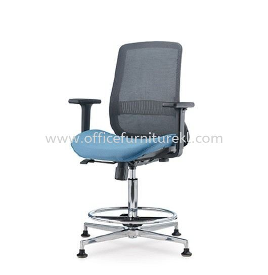 ALAMO LOW BACK ERGONOMIC MESH CHAIR ADJUSTABLE ARMREST WITH 4 PRONGED ALUMINIUM BASE C/W STUD AM8712N-15RHD91