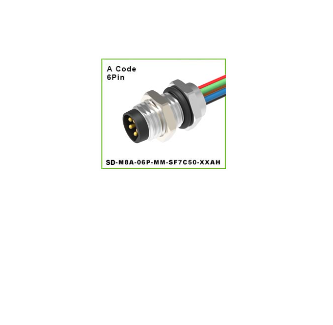 DEGSON - SD-M8A-06P-MM-SF7C50-XXAH M SERIES CIRCULAR CONNECTOR