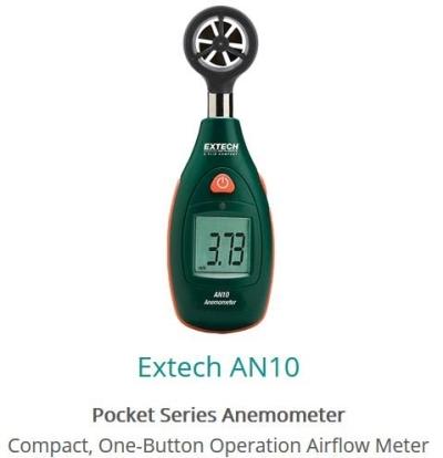 Extech AN10 Pocket Anemometer
