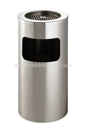 STAINLESS STEEL ASHTRAY TOP BIN - RAB-091/A RABBIT STAINLESS STEEL ASHTRAY BIN