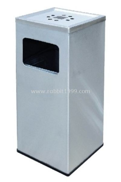 STAINLESS STEEL ASHTRAY TOP BIN - SQB-125/A