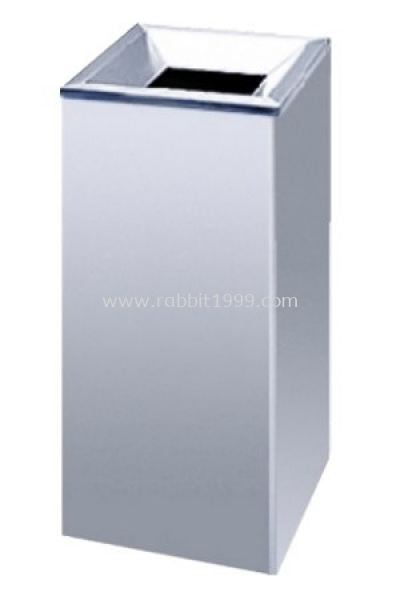 RABBIT STAINLESS STEEL OPEN TOP SQUARE LITTER BIN - SQB-005/OT, SQB-006/OT, SQB-015/OT, SQB-016/OT