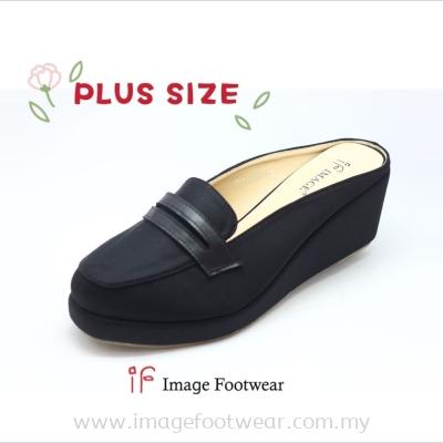 PlusSize Women 2.5 inch Wedges- PS-999-13(B)- BLACK Colour