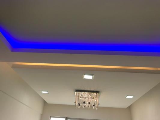 Color LED Effect Plaster Ceiling Design Reference
