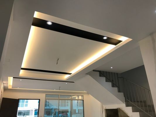 Woodrain Style Plaster ceiling Refer - Malaysia