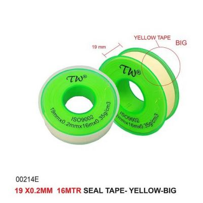 19X X0.2MM  16MTR SEAL TAPE- YELLOW-BIG -00214E