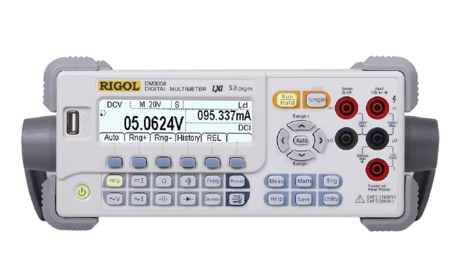 RIGOL DM3058E 5 1/2 Digit Low Cost Benchtop Digital Multimeter with USB and RS-232 only
