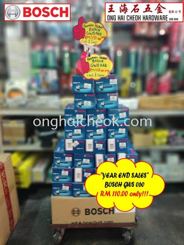 BOSCH Angle Grinder GWS060 : RM110 Only!!!!!!!!