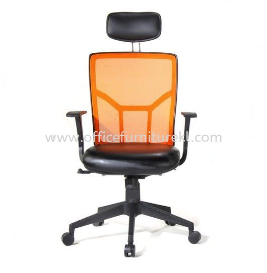 ECHO HIGH BACK ERGONOMIC MESH CHAIR C/W NYLON ROCKET BASE