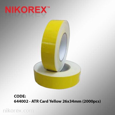 644002 - ATR Card Yellow 26x34mm (2000pcs)