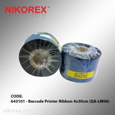 643101 - Barcode Printer Ribbon 4x30cm (QA-LM06)