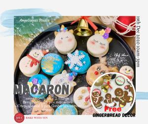Christmas Macaron Woktshop & Gingerbreadman Decor