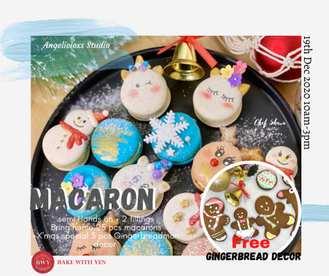 Christmas Macaron Woktshop & Gingerbreadman Decor