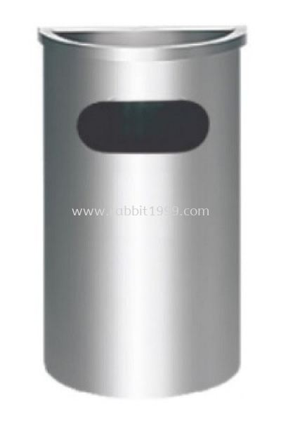 STAINLESS STEEL SEMI ROUND ASHTRAY TOP BIN - SRB-038/A