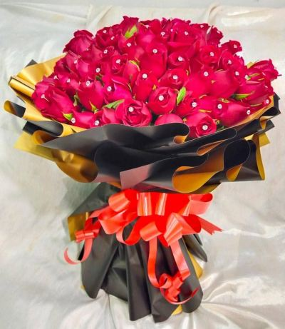 99 Red Rose with diamond HB1072 floristkl
