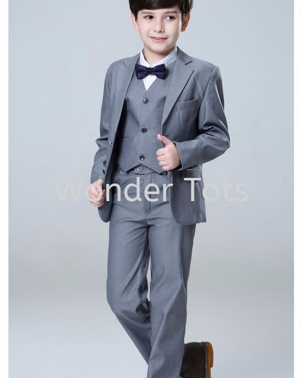 Xmas charms in Grey - Boy Full Suit available in 3-pc set and 5-pc set
