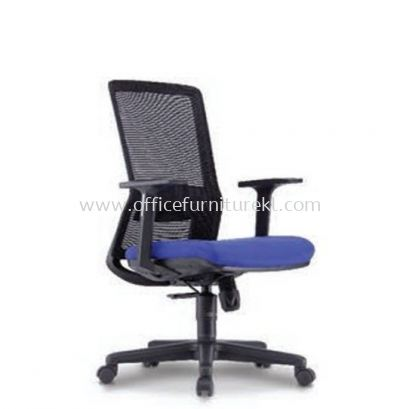 MALLOW 1 MEDIUM BACK ERGONOMIC MESH CHAIR FIXED ARMREST C/W POLYPROPYLENE BASE
