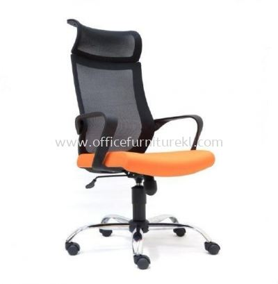 OWER HIGH BACK ERGONOMIC MESH CHAIR WITH CHROME METAL BASE