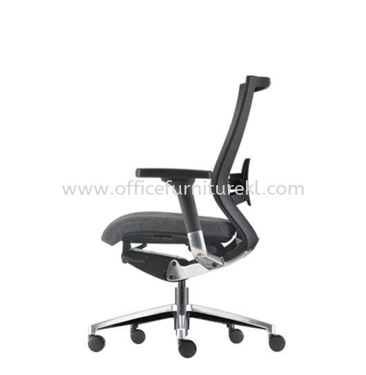 MAXIM MEDIUM BACK SOFTEC ERGONOMIC CHAIR C/W ALUMINIUM BASE AMX 8111F