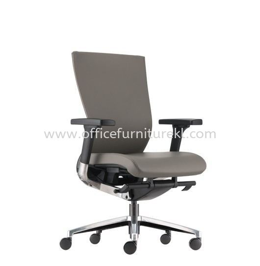 MAXIM MEDIUM BACK PU ERGONOMIC CHAIR C/W ALUMINIUM BASE AMX 8111P-18D