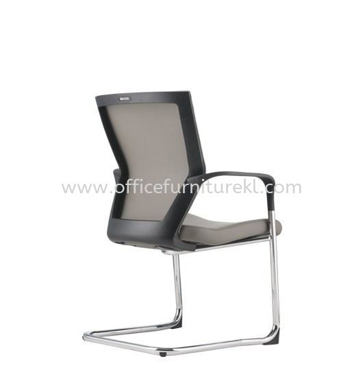 MAXIM VISITOR PU BACK CHAIR C/W CHROME CANTILEVER BASE AMX 8113P