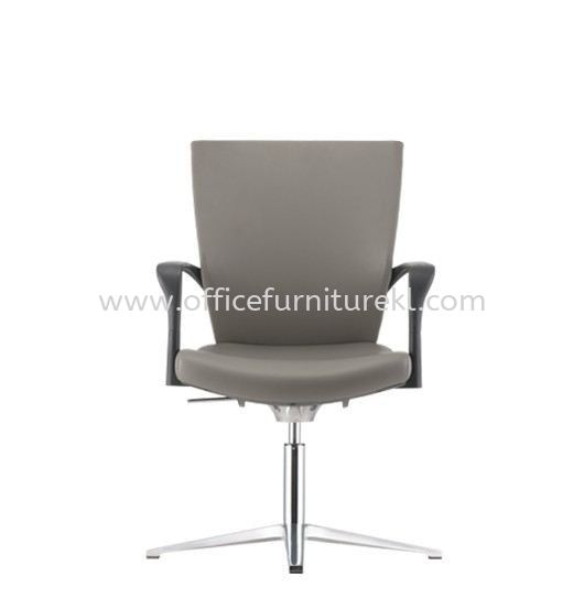 MAXIM VISITOR PU ERGONOMIC CHAIR C/W ALUMINIUM BASE AMX 8114P