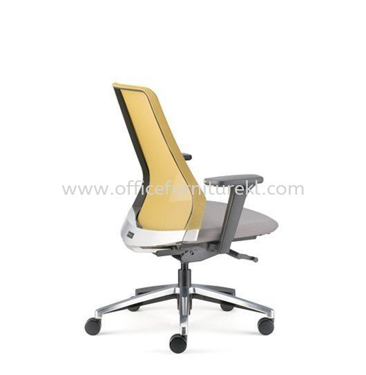 PICO MEDIUM BACK ERGONOMIC MESH CHAIR WITH ALUMINIUM BASE AND NYLON ADJUSTABLE ARMREST APC 8611N-18D