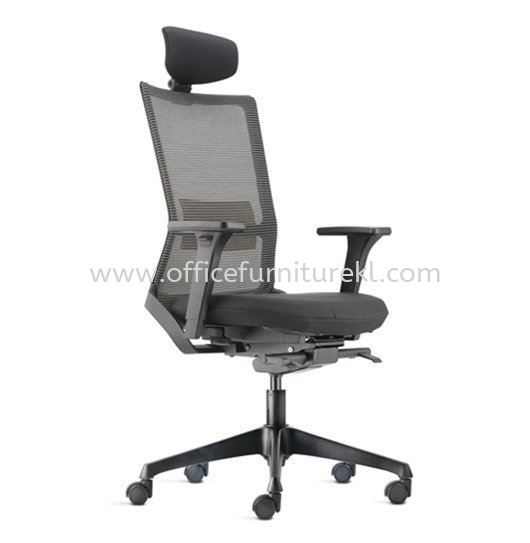 ROYSES HIGH BACK ERGONOMIC MESH CHAIR WITH ROCKET NYLON BASE AND NYLON ADJUSTABLE ARMREST ARC 8510N