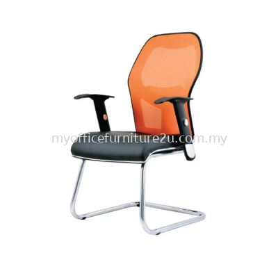 V2093S Inov Mesh Visitor Chair Pu Leather