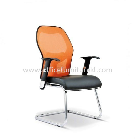 TECH MESH VISITOR CHAIR WITH ALUMINIUM BASE TC3