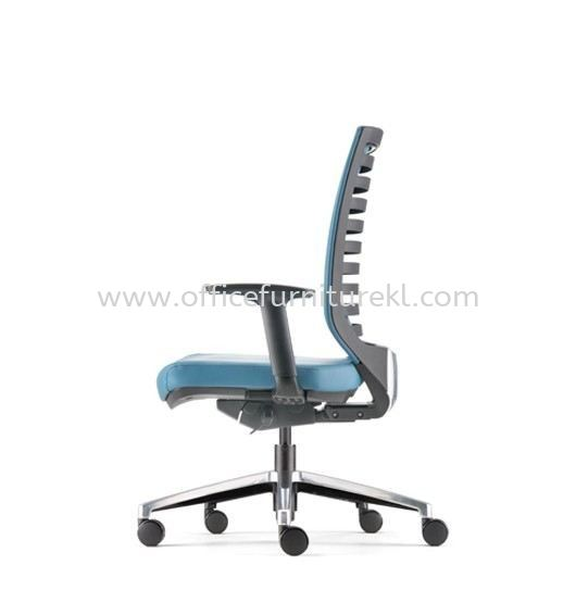 ZENITH MEDIUM BACK PU ERGONOMIC CHAIR C/W ROCKET ALUMINIUM BASE AZN 8211P