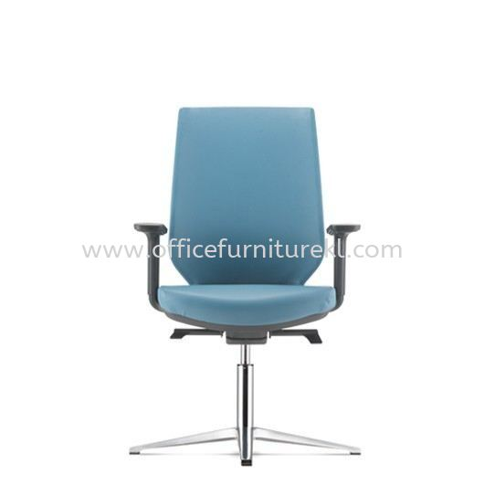 ZENITH VISITOR PU ERGONOMIC CHAIR C/W 4 PRONGED ALUMINIUM BASE AZN 8214P