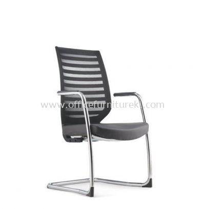 ZENITH VISITOR ERGONOMIC MESH CHAIR C/W CHROME CANTILEVER BASE AZN 8213L
