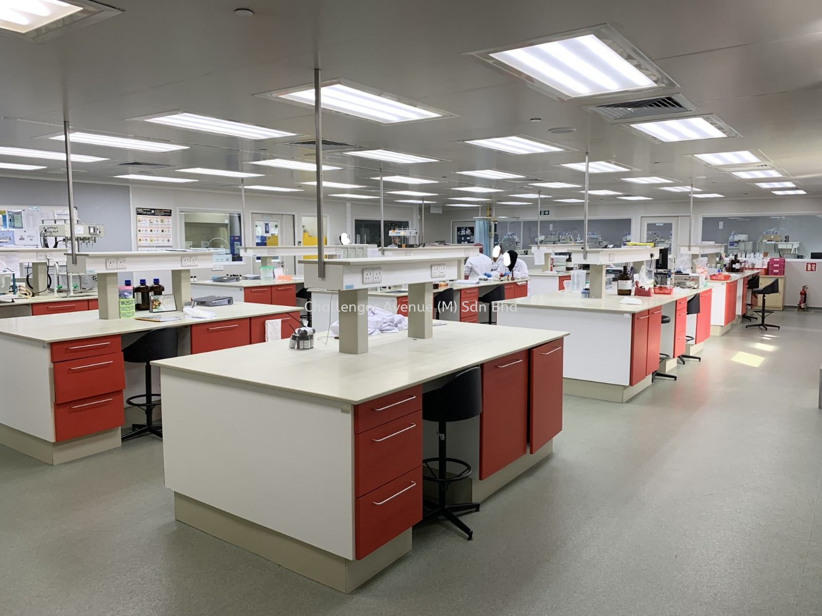 Laboratory Furniture - Red