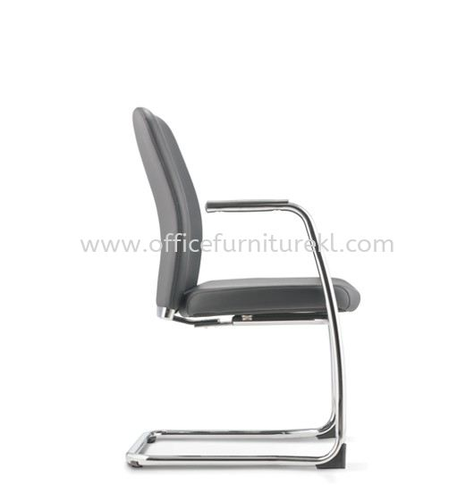 ARONA EXECUTIVE VISITOR LEATHER CHAIR C/W CHROME CANTILEVER BASE AR-4L