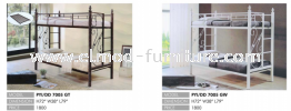 Double Decker  Metal Bed Hostel Furniture / Education Furniture