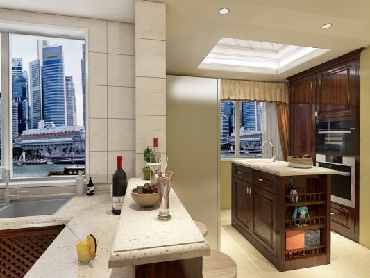 Puchong Kitchen Cabinet With Island Table