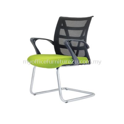 V2673S Point Mesh Visitor Chair Pu Leather