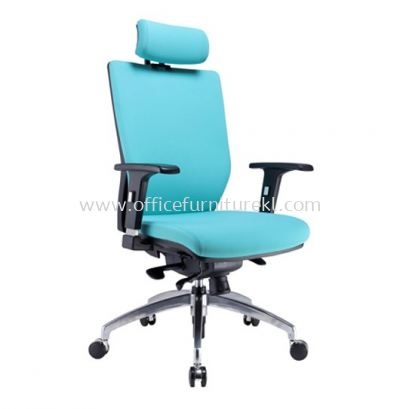 INFLORA 2 EXECUTIVE HIGH BACK LEATHER CHAIR C/W ALUMINIUM DIE-CAST BASE HB