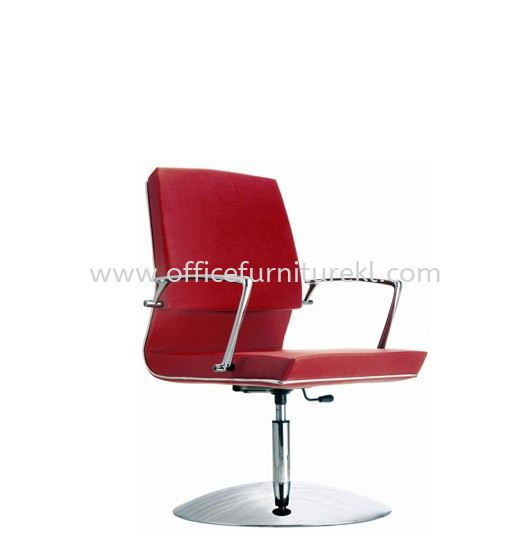 NIDOZ VISITOR LEATHER CHAIR WITH CHROME TRIMMING LINE