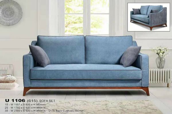 Fully Removable Fabrics Covers Sofa 3seaters with wooden Leg (washable)