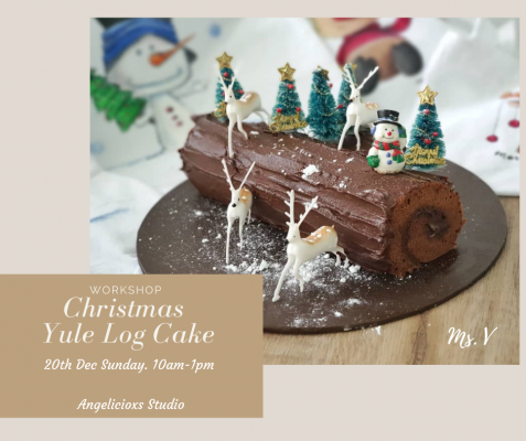 Christmas Yule Log Cake