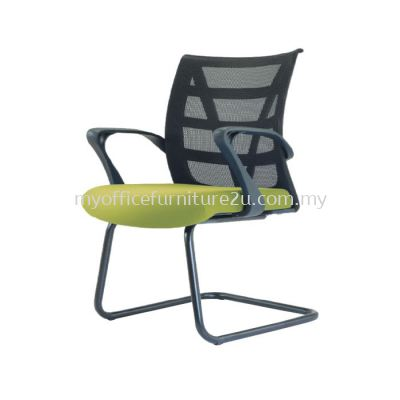 V2677S Point Mesh Visitor Chair Pu Leather
