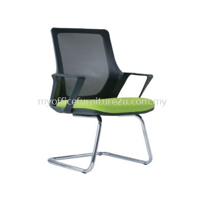 V2695S Real Mesh Visitor Chair Pu Leather