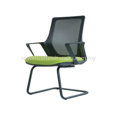V2696S Real Mesh Visitor Chair Pu Leather